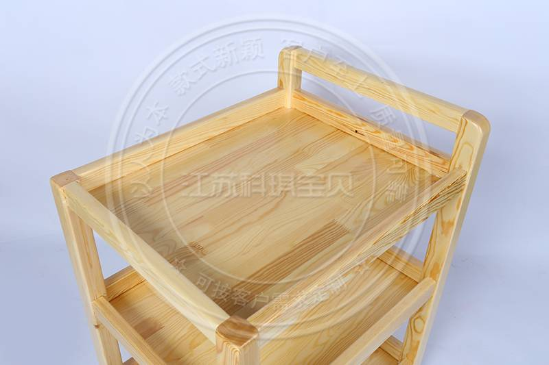 木质置物小推车